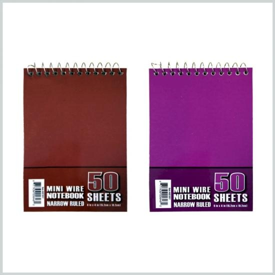 Mini wire notebook 50sheets